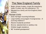 the new england family