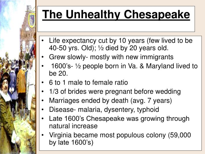 Life expectancy cut by 10 years (few lived to be 40-50 yrs. Old); ½ died by 20 years old.