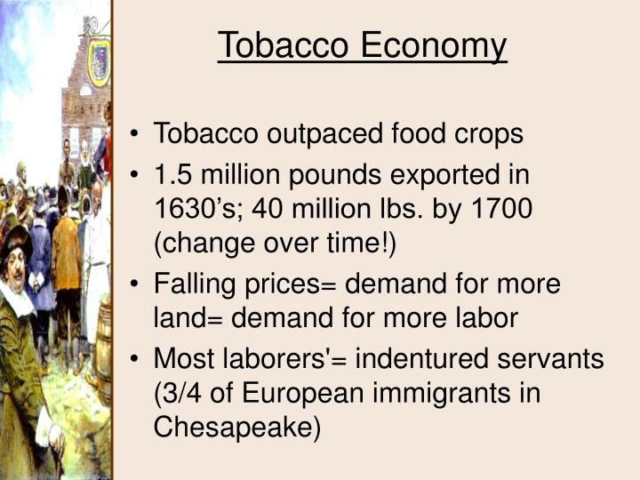 Tobacco outpaced food crops