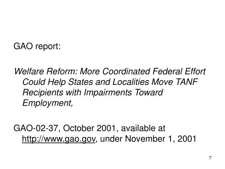 GAO report: