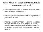what kinds of steps are reasonable accommodations
