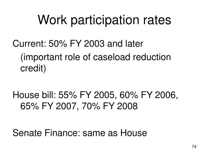 Work participation rates