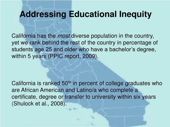 Addressing Educational Inequity