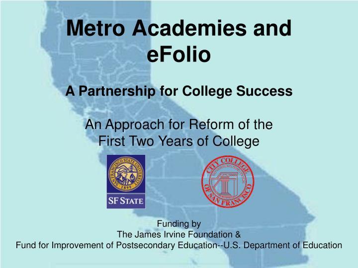 Metro Academies and eFolio