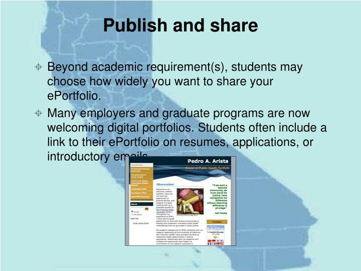 Publish and share