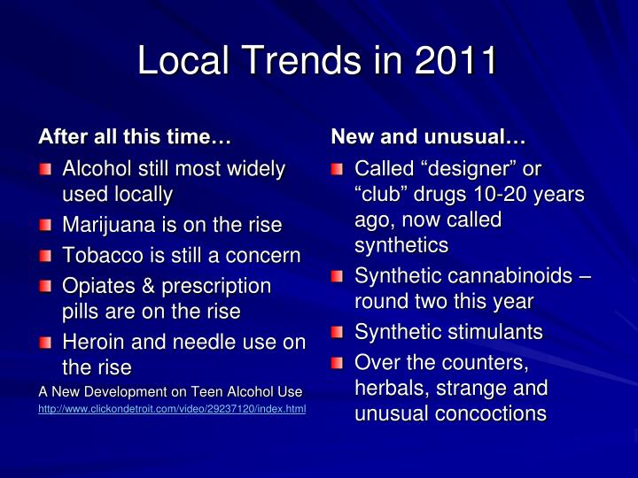 Local Trends in 2011