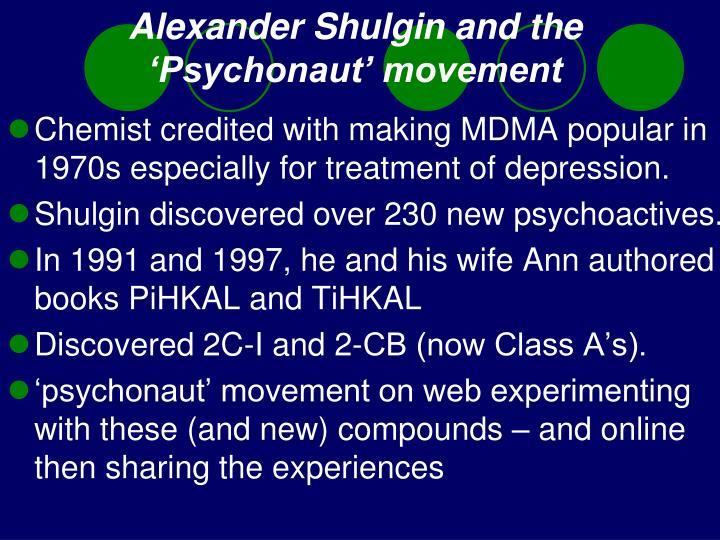 Alexander Shulgin and the