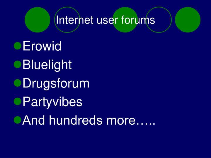 Internet user forums