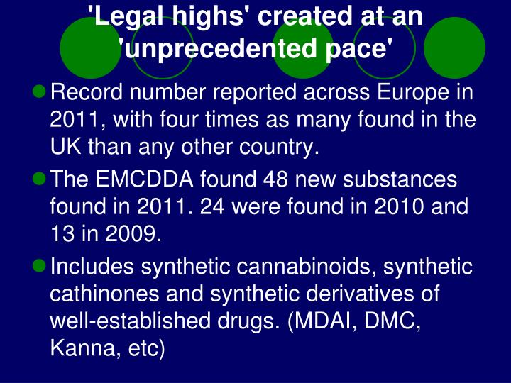 'Legal highs' created at an 'unprecedented pace'