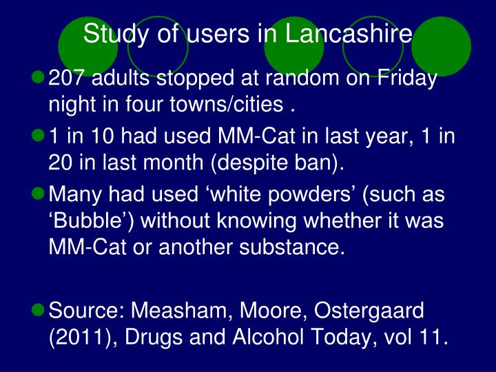 Study of users in Lancashire