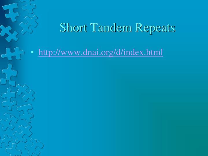 Short Tandem Repeats