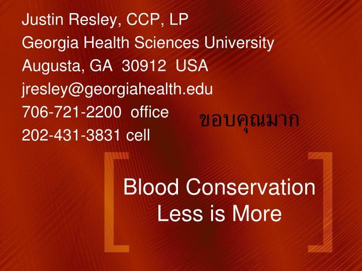 Justin Resley, CCP, LP