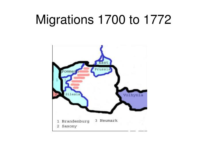 Migrations 1700 to 1772