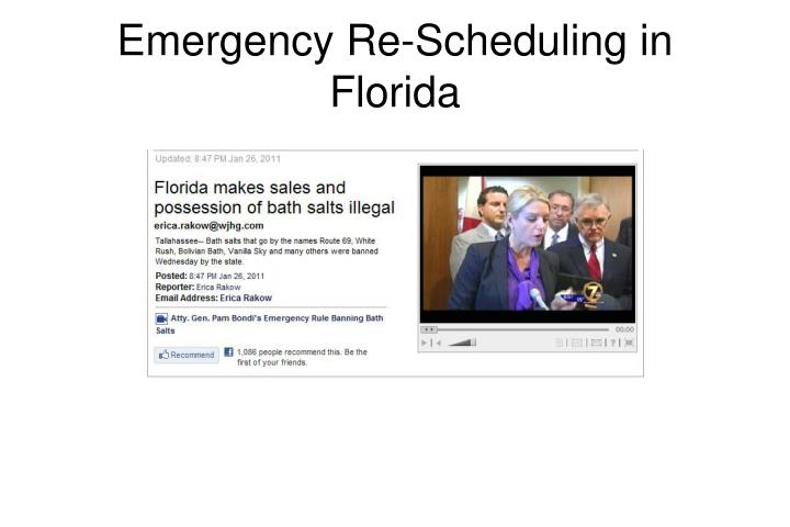 Emergency Re-Scheduling in Florida