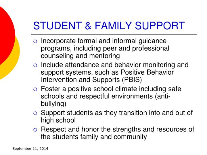 STUDENT & FAMILY SUPPORT