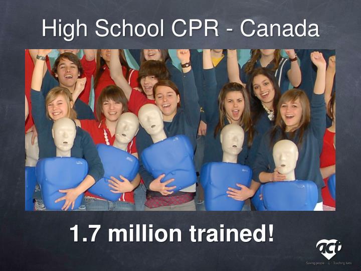 High School CPR - Canada