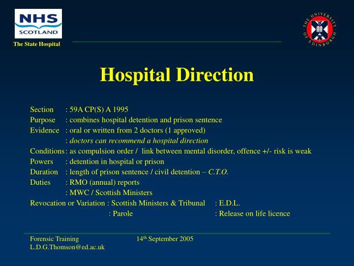 Hospital Direction