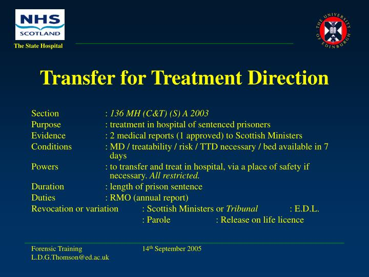 Transfer for Treatment Direction