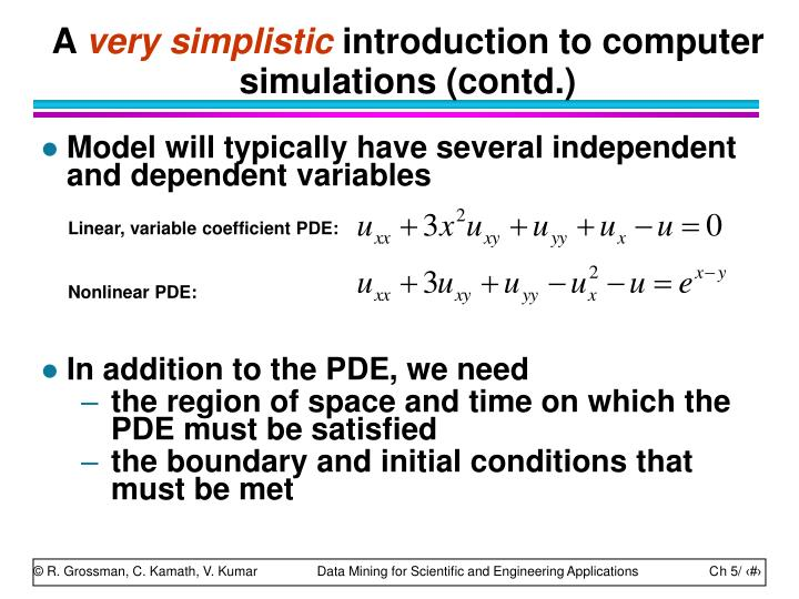 Linear, variable coefficient PDE: