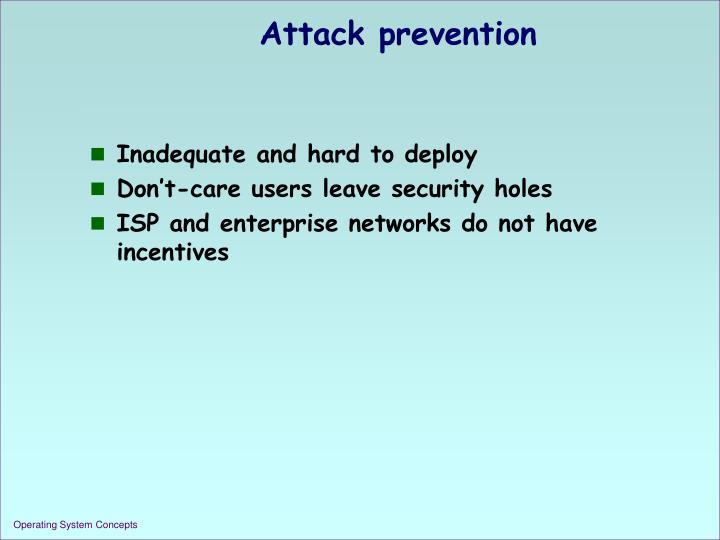 Attack prevention