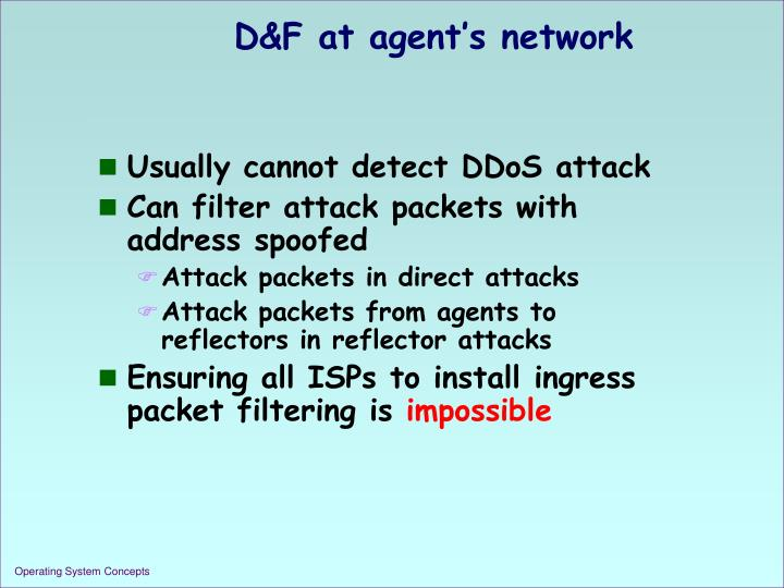 D&F at agent's network