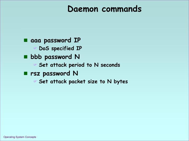 Daemon commands