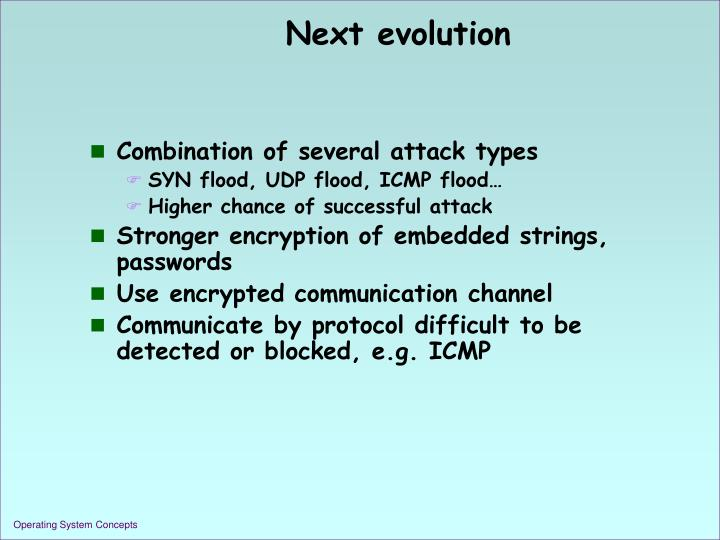 Next evolution