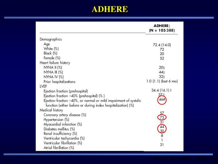 ADHERE