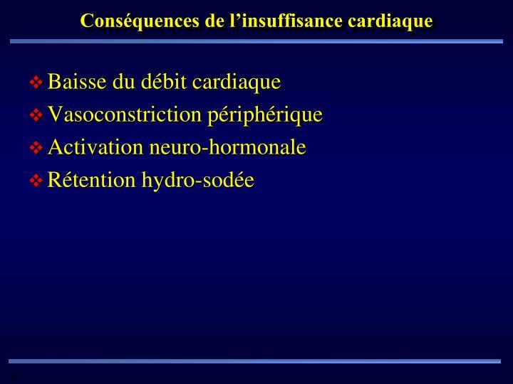 Conséquences de l'insuffisance cardiaque
