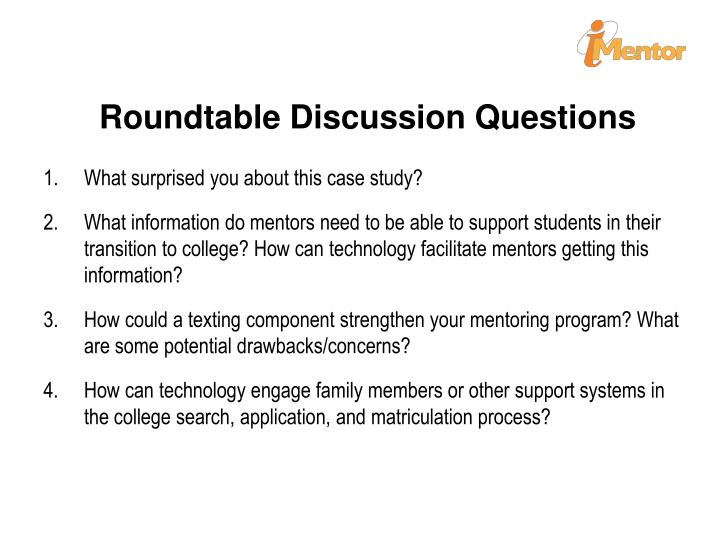 Roundtable Discussion Questions