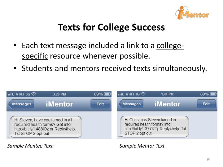 Texts for College Success
