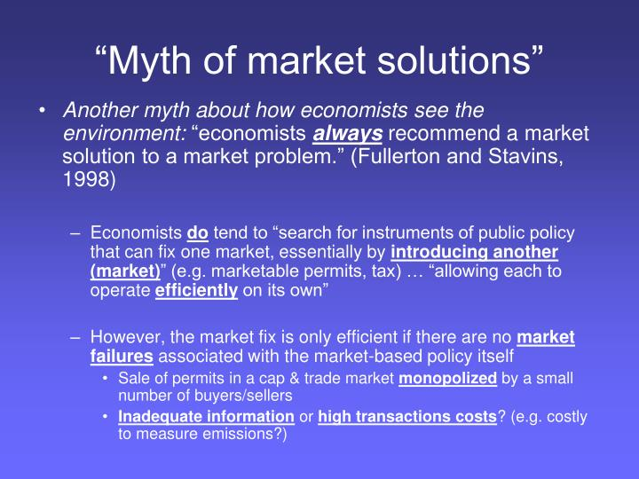 """Myth of market solutions"""