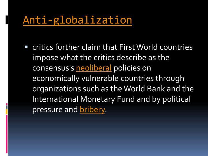 Anti-globalization