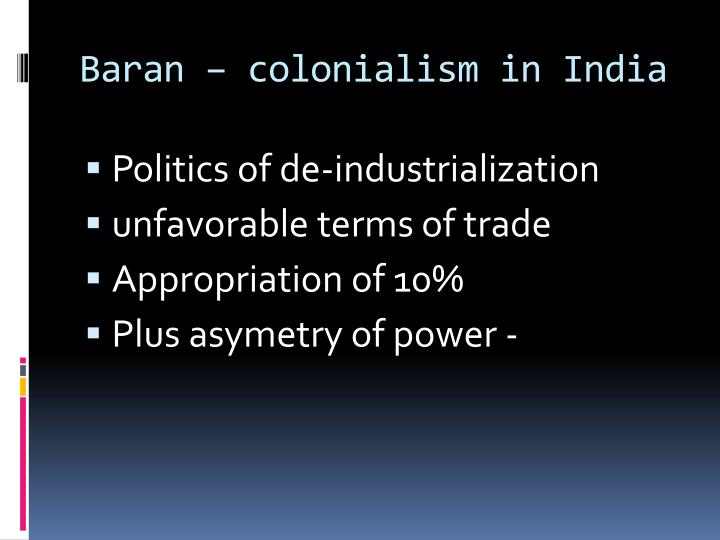 Baran – colonialism in India