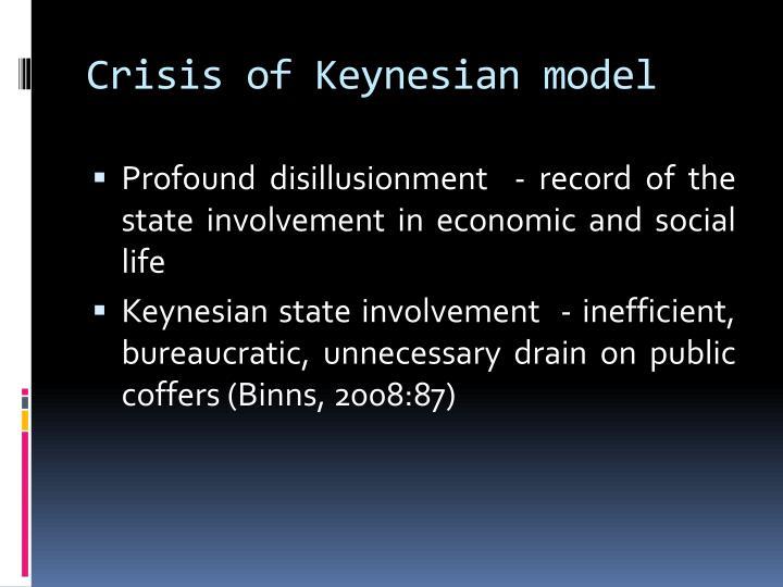 Crisis of Keynesian model