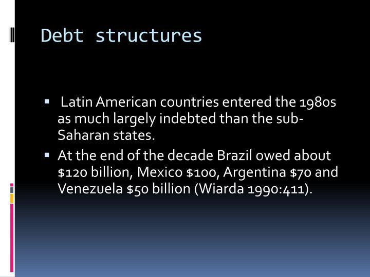 Debt structures