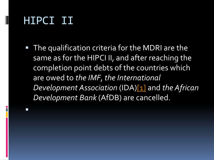 HIPCI II
