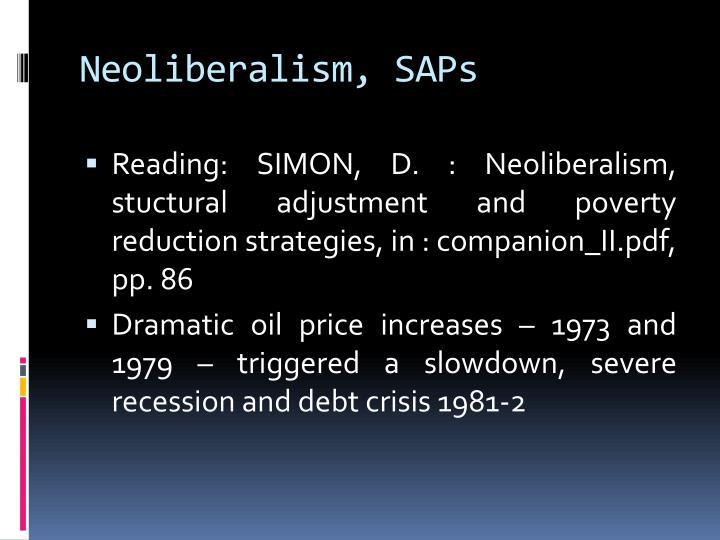 Neoliberalism, SAPs