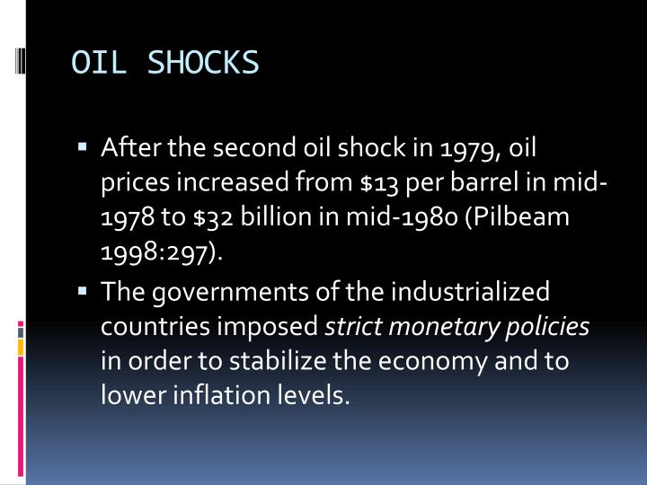 OIL SHOCKS