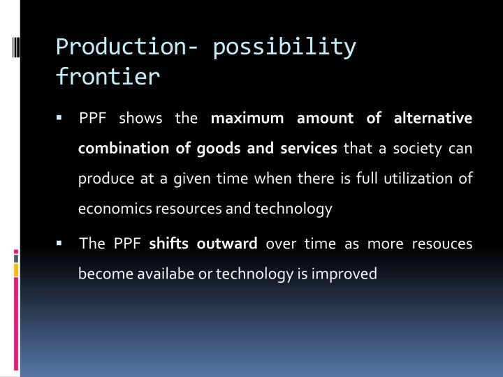 Production- possibility frontier