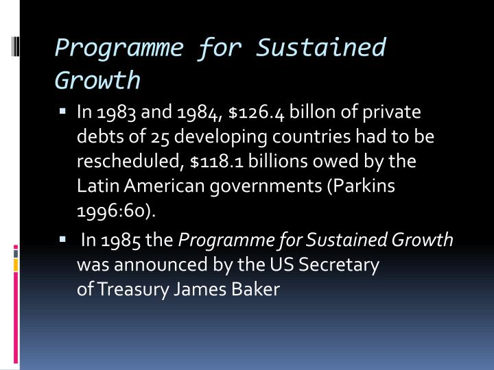 Programme for Sustained Growth