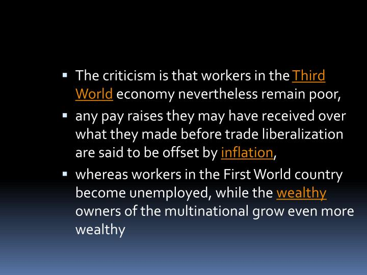 The criticism is that workers in the