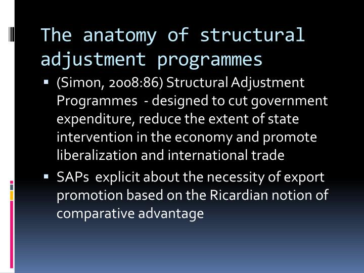 The anatomy of structural adjustment programmes