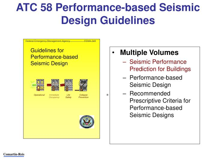 ATC 58 Performance-based Seismic Design Guidelines