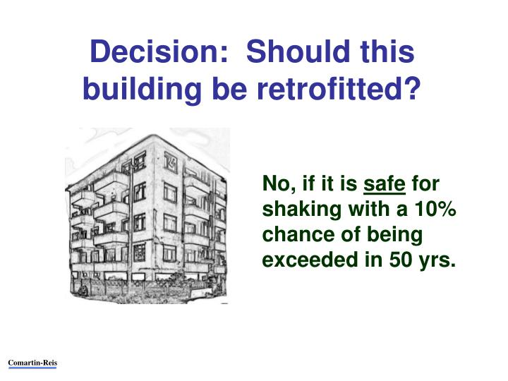 Decision:  Should this building be retrofitted?