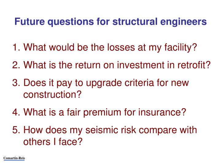 Future questions for structural engineers