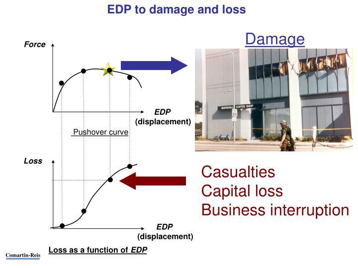 EDP to damage and loss