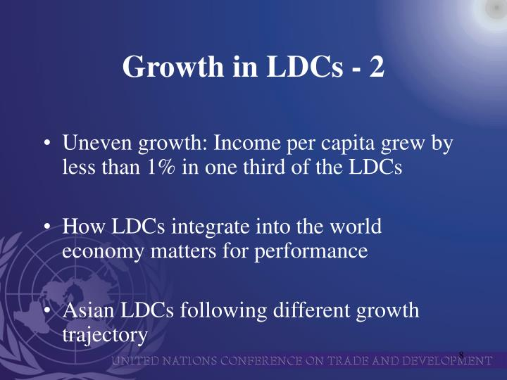 Growth in LDCs - 2