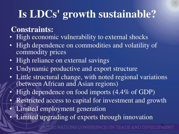 Is LDCs' growth sustainable?