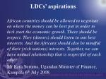 ldcs aspirations